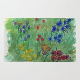 Dream of a flower fields Rug