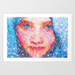 Girl In A Blue Headdress Art Print