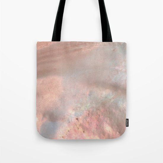 Mother of pearl in rose gold Tote Bag