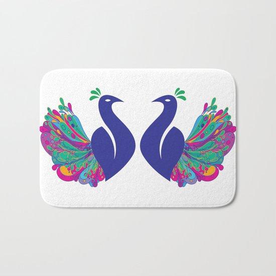 Peacock Fantasy Bath Mat