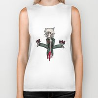 dangan ronpa Biker Tanks featuring kooomaeda by crying-hallmonitor