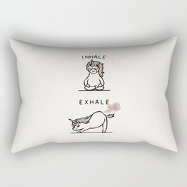 Inhale Exhale Unicorn Rectangular Pillow