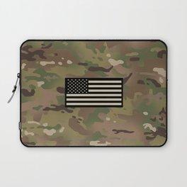 U.S. Flag: Woodland Camouflage Laptop Sleeve