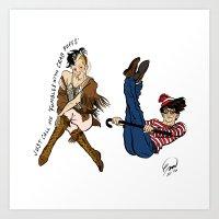 Happy Frasierween ~ Gil and Bulldog Art Print