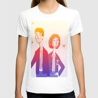 mulder T-shirts featuring mulder n scully by clairen0vak