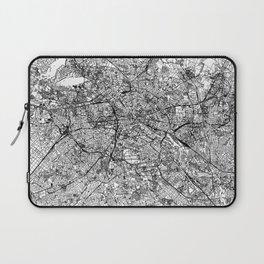 Berlin White Map Laptop Sleeve