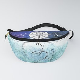 Anchor and the horizon Fanny Pack