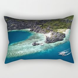 Island hopping around the Philippine Islands Rectangular Pillow