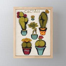 Cactass Framed Mini Art Print