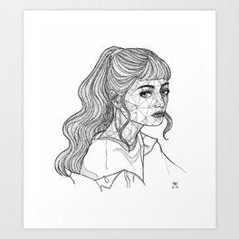 A Glance Art Print