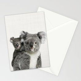 Koala Print, Australian Animal, Nursery Wall Art Decor, Koala Bear Stationery Cards