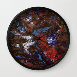 In Darkness Acrylic Abstract Wall Clock