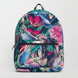 Unicorn and Floral Pattern Backpack