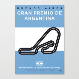 My F1 Buenos Aires Race Track Minimal Poster Canvas Print