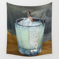 drink Wall Tapestries featuring DRINK by Beth Hoeckel