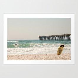 Surfs Up - Panama City Beach, FL Art Print