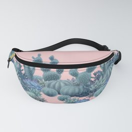Milagritos Cacti on Rose Quartz Background Fanny Pack