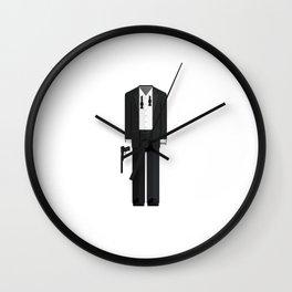 Fictional British Secret Service Agent - Casino Mission Minimal Sticker Wall Clock