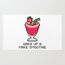 Wake Up & Make Smoothie Rug