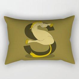 Monogram S Pony Rectangular Pillow