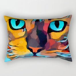 Cat 10 Rectangular Pillow