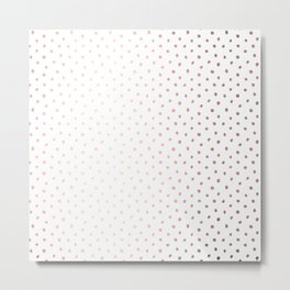 Cool Rose Gold Polka Dots Metal Print