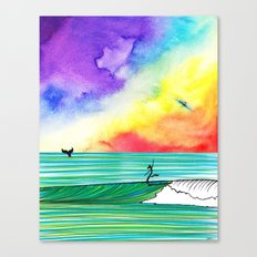 The Wolf and the Whale Canvas Print