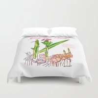 ginger Duvet Covers featuring Ginger Root by Ron Trickett