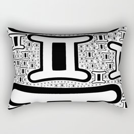 Gemini Zodiac doodle Rectangular Pillow