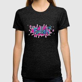 FN Foolish Graffiti Art blue T-shirt