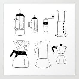 Coffee Tools Art Print