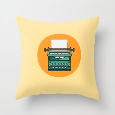 Typewriter Icon Throw Pillow