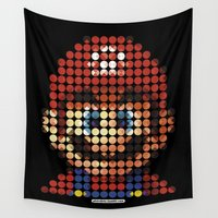 mario Wall Tapestries featuring Pictodotz - Mario by dudsbessa
