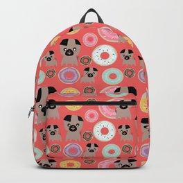 Pug and donuts orange Backpack