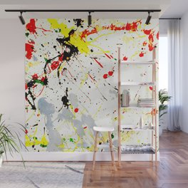Paint Splatter Wall Mural