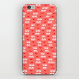 Hearts pattern and stereogram - See the hidden 3D image! iPhone Skin