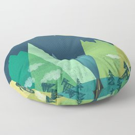 The Long Road at Night Floor Pillow