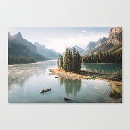 A Canadien Postcard Canvas Print