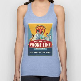 Support the Front Line Unisex Tank Top
