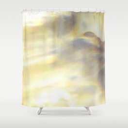 Christmas Lights and White Wine Shower Curtain