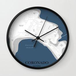 Coronado Map Wall Clock