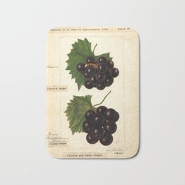 Grapes - Flowers and James Bath Mat