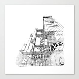Offices Building project Canvas Print