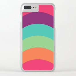 70s Flair Clear iPhone Case