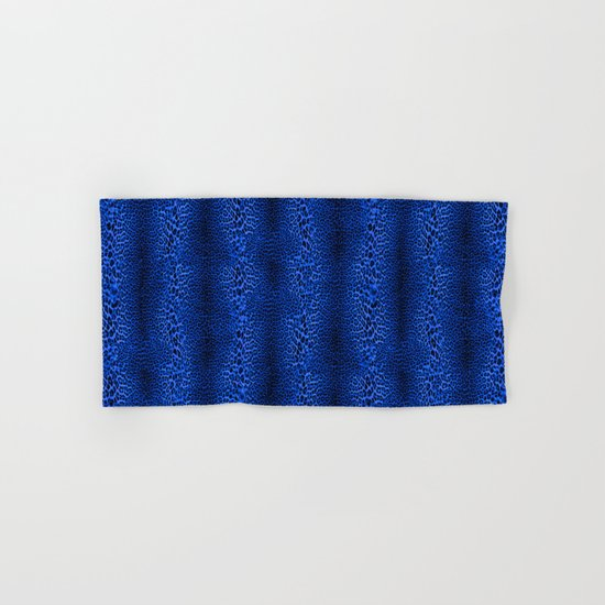 Wild Blue Leopard Hand & Bath Towel