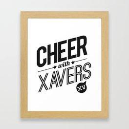 XV Cheerleading Framed Art Print