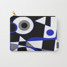 Abstract #505 Blue Carry-All Pouch