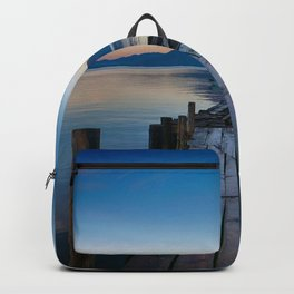 The Dock Sunset (Color) Backpack