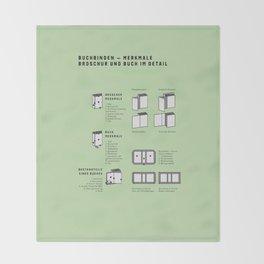 Buchbinden – Merkmale Broschur und Buch im Detail (in German) Throw Blanket