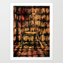Full metal chair Art Print